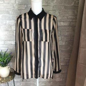Monteau | Striped Blouse